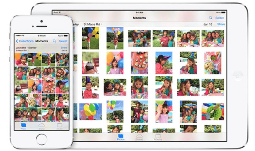 Aplicación fotos en iOS 8