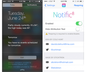 Tweak Notific8