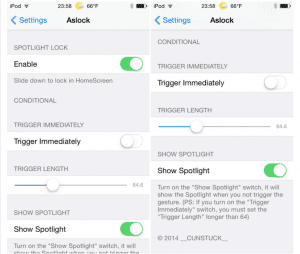 Configuración Tweak Aslock
