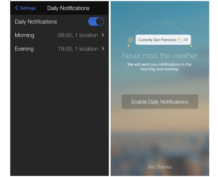 Configuración de las notificaciones