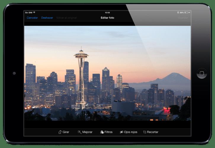 Mejorar calidad fotos ipad 99