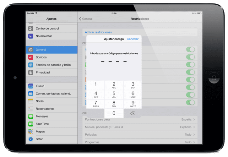 Restringir acceso a tiendas iOS