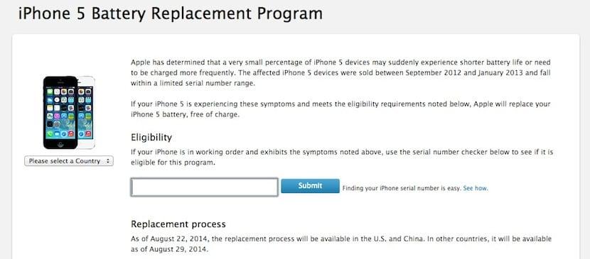 Reemplazo de batería del iPhone 5