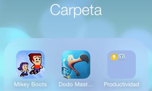 Carpetas anidadas en iOS 8