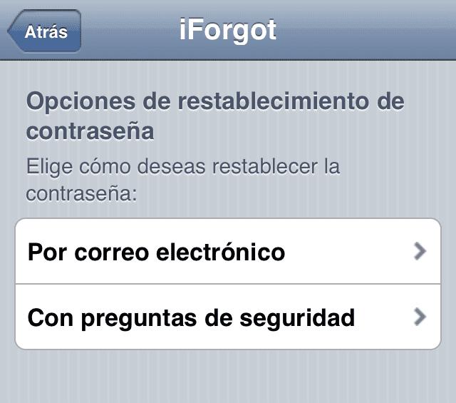 recuperar contraseña id apple desde iphone