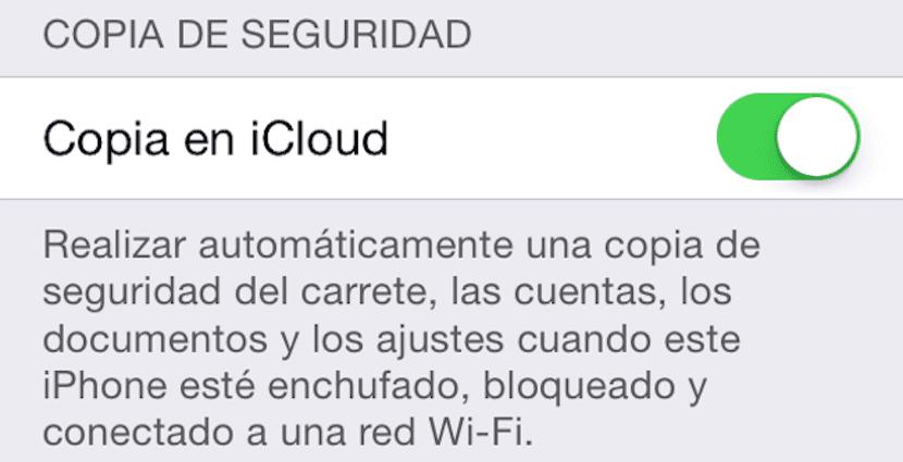 Backup con iCloud