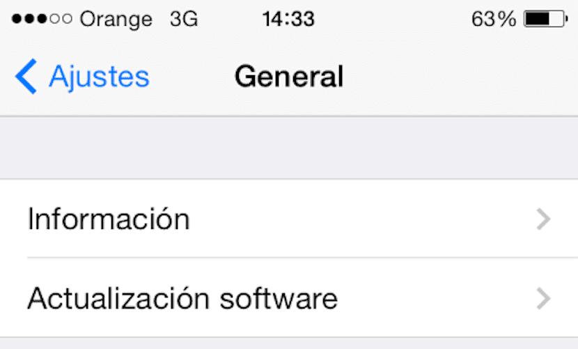 iOS 8 vía OTA