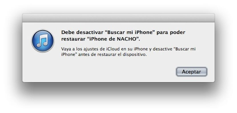 Restaurar iPhone desde iOS 7