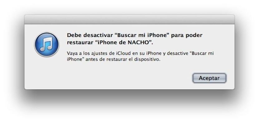 Restaurar iPhone desde iOS 7