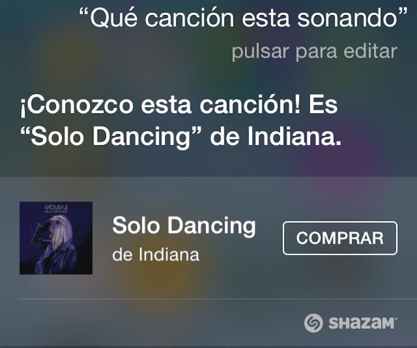 Shazam en Siri