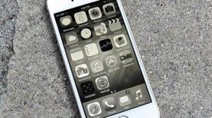 escala grises iOS 8