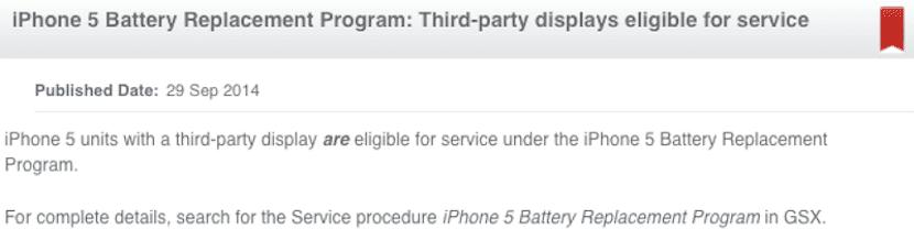 Reemplazo de batería en el iPhone 5