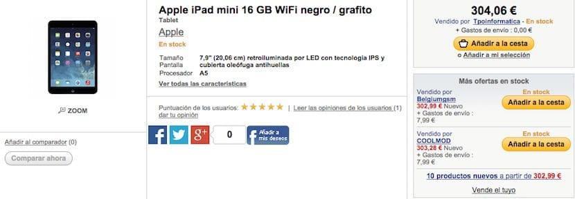 Ofertas iPad Mini Retina