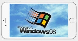 Windows 98 en iPhone