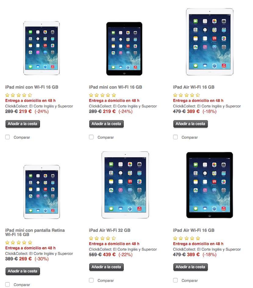 iPad Mini Retina El Corte Inglés