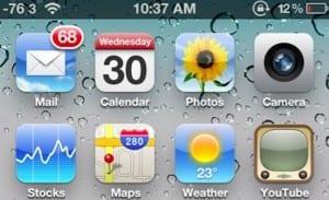 intensidad señal iPhone