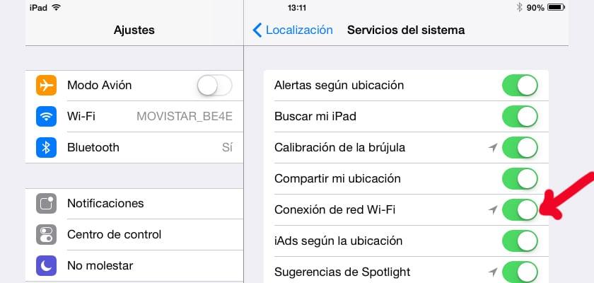 conexion de red wifi ios 8
