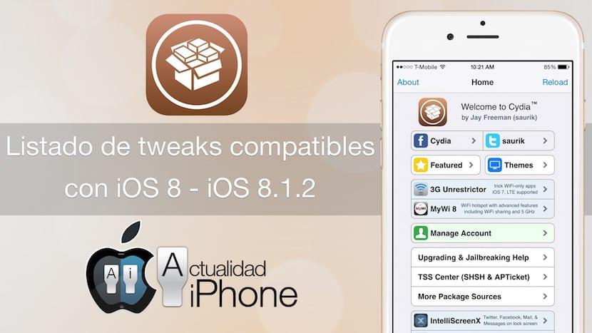Tweaks compatibles con iOS 8.1.2