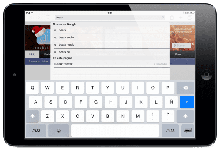 Buscar palabras en Safari