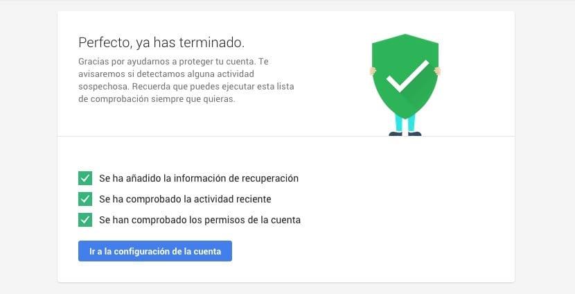 Seguridad de la cuenta de Google