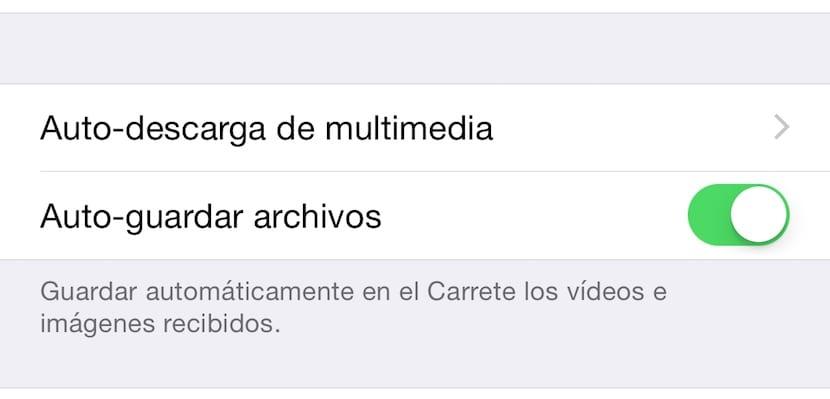 desactivar autoguardado de fotos en whatsapp para liberar espacio en iPhone