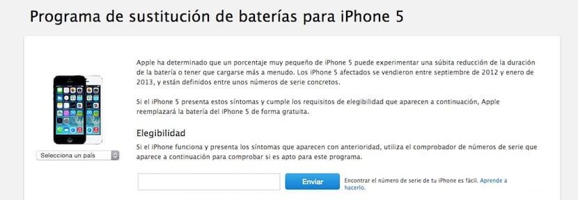 Reemplazo de batería en iPhone 5