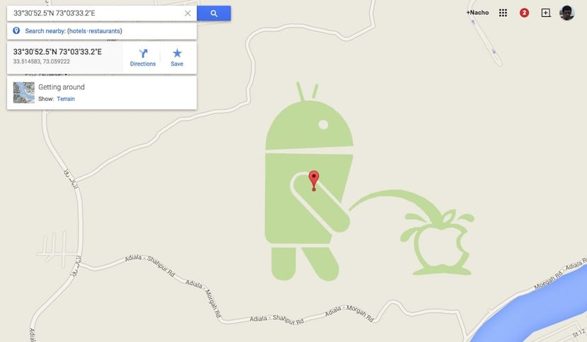 Android orina a Apple