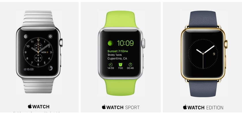 ediciones del Apple Watch