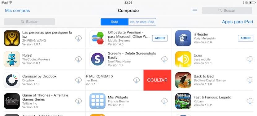 eliminar-esconcer-aplicaciones-app-store
