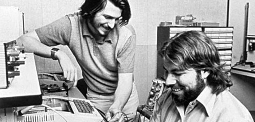DPA via Press Association Images Apple Computer was founded in 1976 by ​​Steve Jobs (left), Steve Wozniak (right) and Ronald Wayne (not pictured) in the garage of Jobs' parents. (Archive photo from 1976). Steve Jobs died on Wednesday at the age of 56, after a long and highly public battle with cancer.
