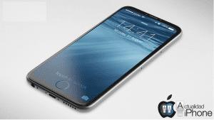 Concepto de iPhone con Touch ID en la pantalla