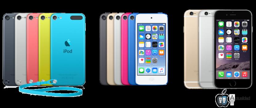 c7fa2d1be92 Comparativa iPod 5ª generación, 6ª generación y iPhone 6