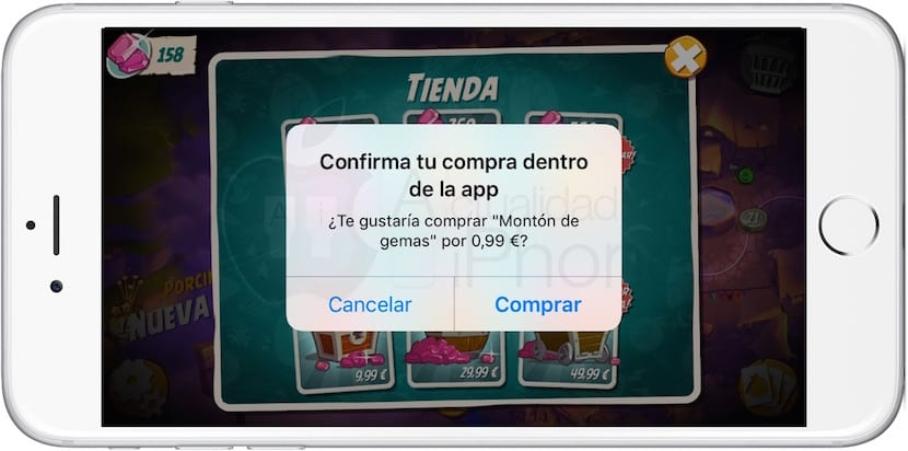 Compras integradas en iPhone