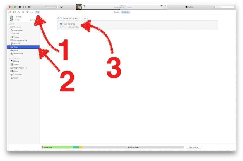 Sincronizar tonos del iPhone con iTunes