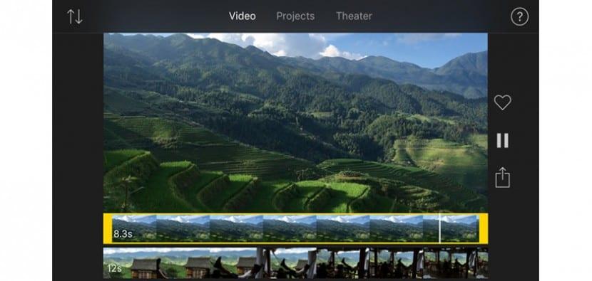 Girar un vídeo con iMovie