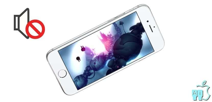 iPhone sin sonido