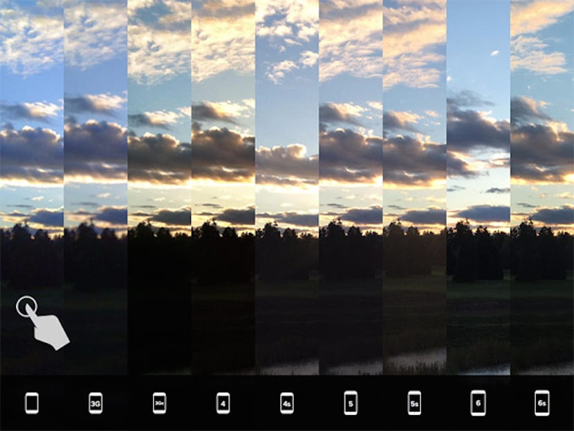 camara iPhone luz natural