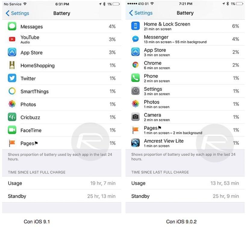 iOS 91 vs ioS 92