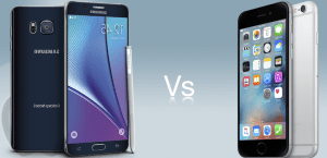 Galaxy Note 5 VS iPhone 6s