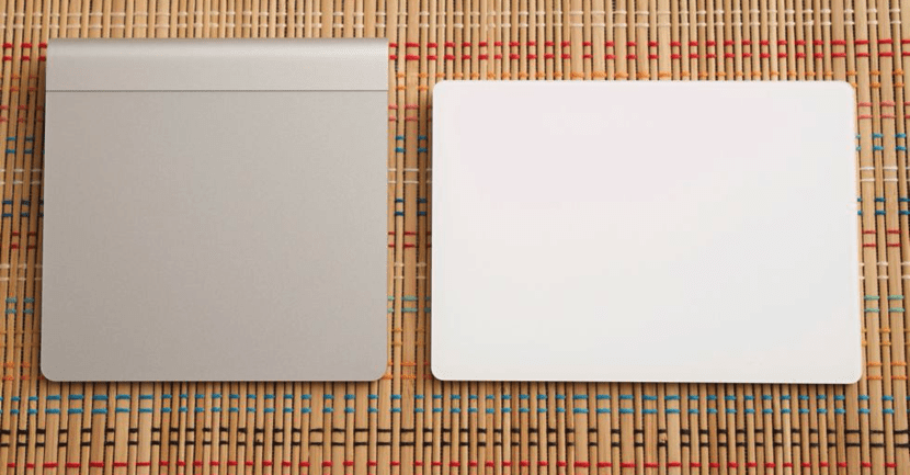 Magic Trackpad (izquierda) vs. Magic Trackpad 2 (derecha).