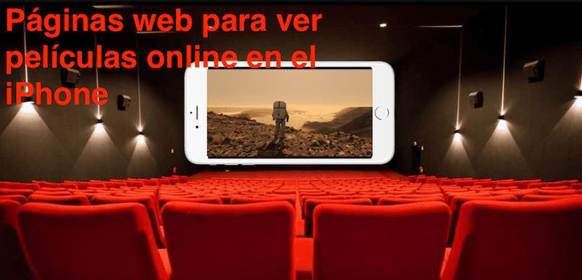 Páginas web para ver películas online en el iPhone
