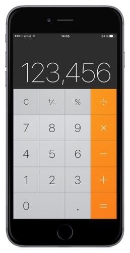 Borrar el último dígito ingresado en la calculadora