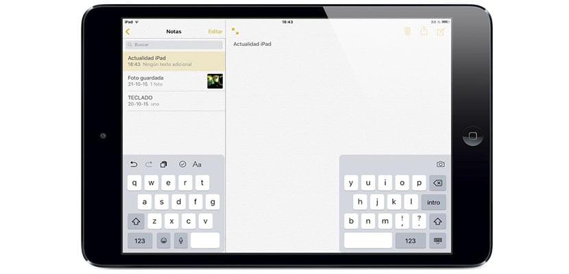 Cambiar teclado a modo doble pantalla (pulgar)