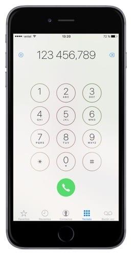 Marcar una extensión telefónica automáticamente en el iPhone