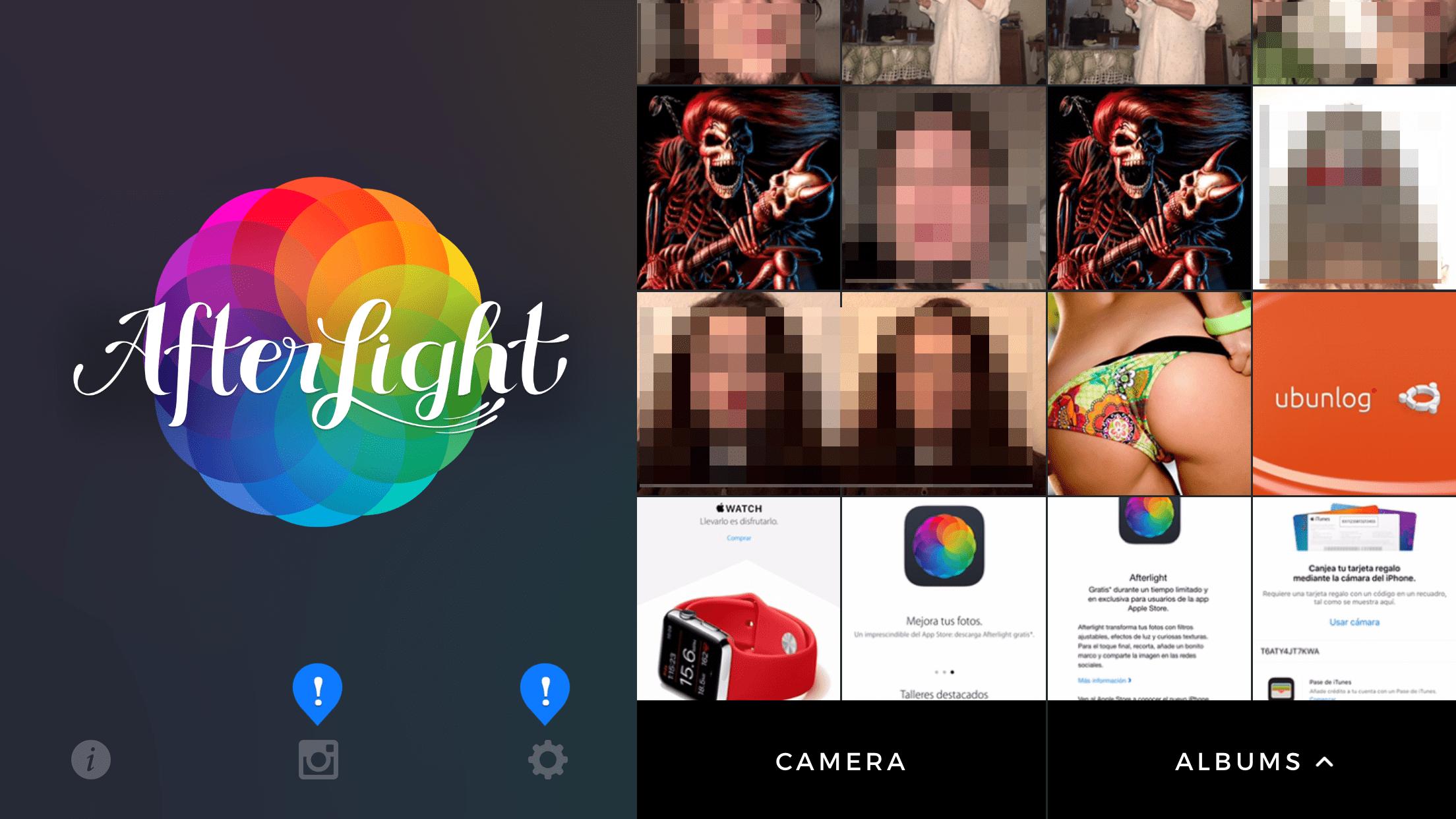 Consigue Afterlight gratis con la aplicación del Apple Store