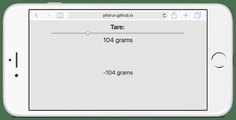 Esta web usa el 3D Touch para pesar objetos