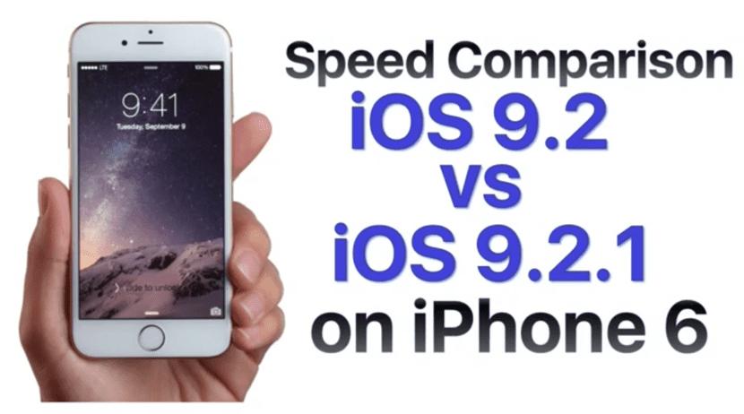 Comparación iOS 9.2.1 iOS 9.1