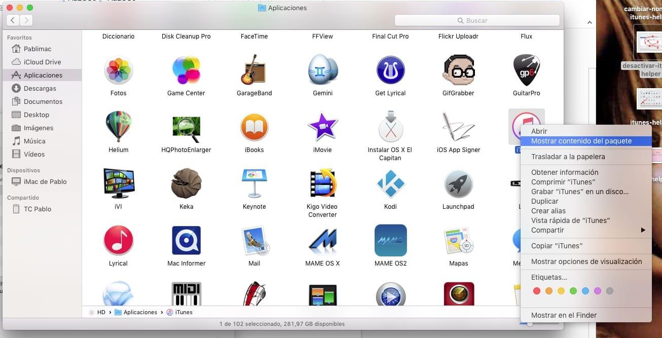 Panel de preferencias de OS X