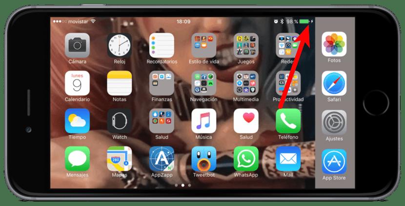 Saber si iPhone está cargando
