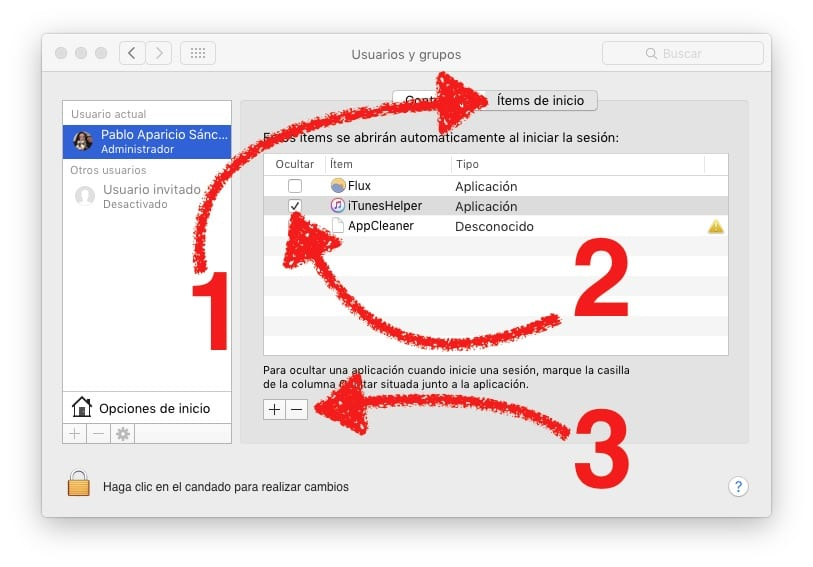 Desactivar iTunes Helper en OS X